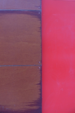 red-brown wall