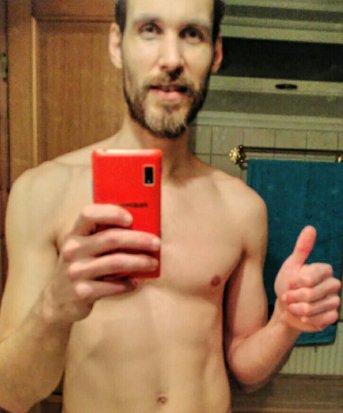Post-workout,  pre-shower selfie of bkh.me